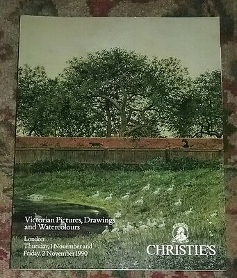 CHRISTIE'S LONDON Fine Victorian Pictures, Drawings and Watercolours  1990