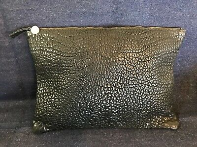 """Clare V Black Pebble Grain 11""""x15"""" *Large* Oversized Leather Clutch NWOT"""