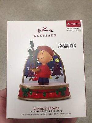 2018 Hallmark Peanuts Storytellers Charlie Brown Christmas Ornament Nib