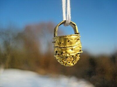 ANCIENT GOLD MEDIEVAL ORNAMENTS PENDANT Viking Kievan Rus 10-12 century AD