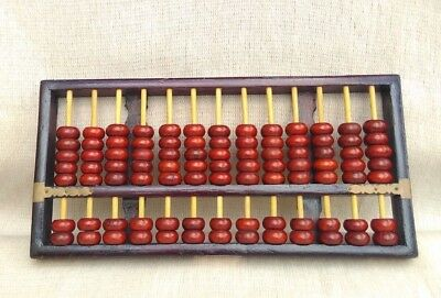 Vintage Large Rare Wood Chinese Diamond Brand Abacus 91 pieces Asian Decor