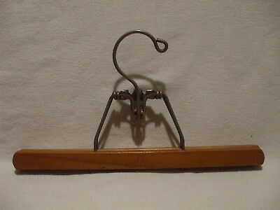 "Vintage 12"" HARMONY HOUSE Wooden Clothes Trouser Pant Clamp Hanger"
