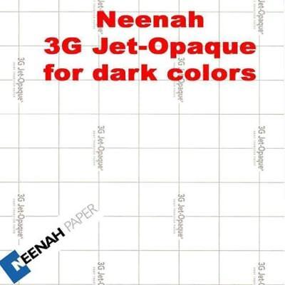 3G Neenah Jet Opaque Heat Transfer Paper 8.5x11 20 sheets Works Great FASTSHIP!