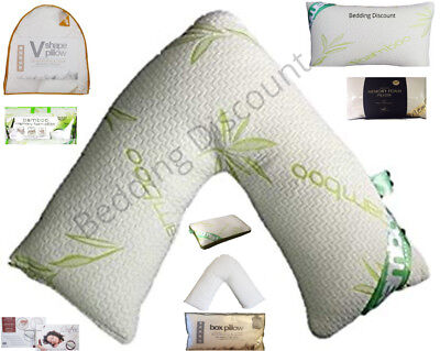 Luxury Shredded / Bamboo Memory Foam Pillow Firm Head Neck Support Orthopaedic