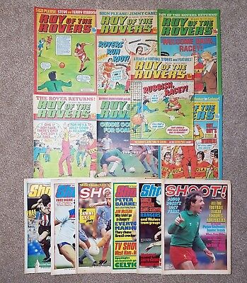 13 x football comics - Roy of the Rovers and Shoot magazines 1982 - 1983 Lot #13