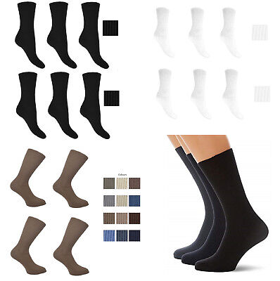 Men's Non Elastic Soft Top Socks, Can be Use for Diabetic, Fit to UK Size 11-14