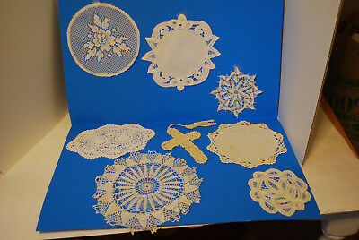 Lot of 7 Vintage Crochet Doilies & 1 Bookmark Table Lace Doily