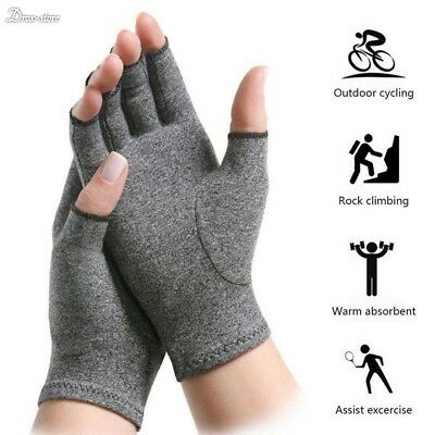 Hand Arthritis Gloves Joint Pain Relief Symptom Therapy Open Fingers Compression