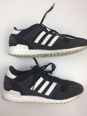 USED ADIDAS ZX700 black and white Mens  bb1211 running shoes   Size: 12