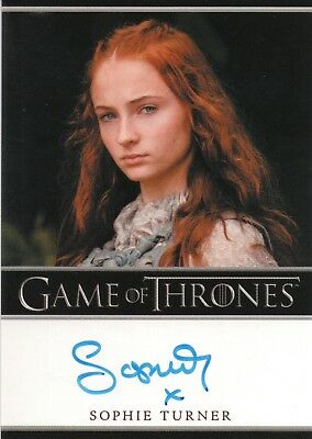 Game of Thrones Season 3, Sophie Turner 'Sansa Stark' Autograph Card