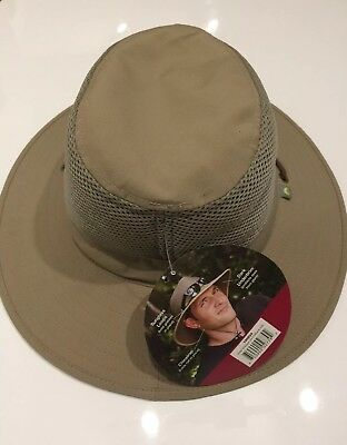 Solar Escape Outback Men s UV Protection UPF 50+ Hat Khaki Adjustable NEW  w  tag b549bcbf16ed