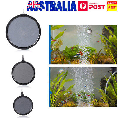 AU Air Bubble Disk Stone Aerator Aquarium Fish Tank Pond Oxygen Pump Airstone