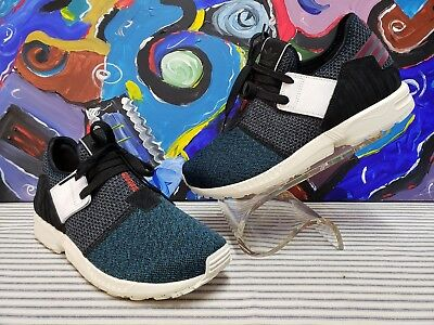 8842b71ad Adidas ZX Flux Plus Running Shoes Blue Mens 8 Running Walking Training  Exercise