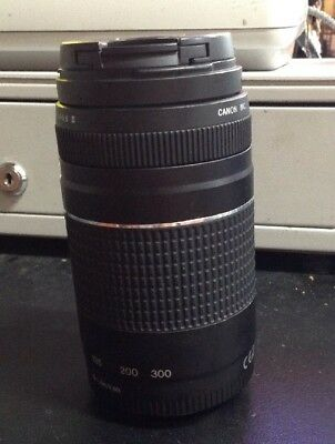 Canon EOS Camera Auto Focus Zoom Lens EF 75-300mm 1: 4-5.6 III