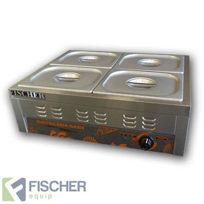 """brand New"" S/steel Hot Food Display Warmer Bain Marie 4X 1/2 Gn Trays -  Bsb-4T"