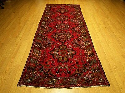 3.8 x10  Handmade Fine Quality Antique Persian Bakhtiari Veggie Dye Wool Runner