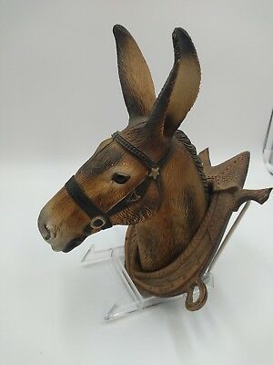 Donkey ass mule burrow head lightweight plastic wall hanging  Made in France
