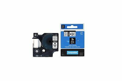 10 PK A45010 For Dymo D1 45010 210D LabelManager Black on Clear Label Tape