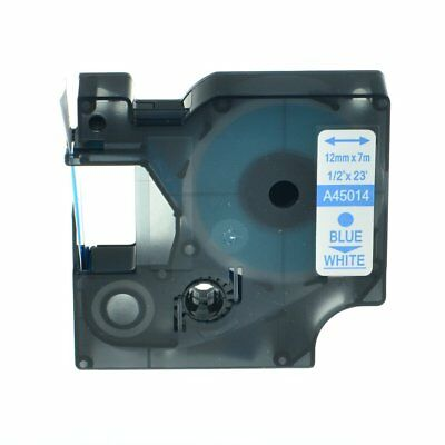 US STOCK 10 PK A45014 For Dymo D1 45014 Blue on White Label Tape
