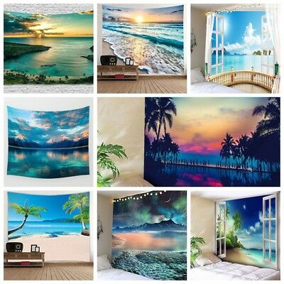 Great Sea Print Tapestry Wall Hanging Psychedlic Style Wall Tapestry Home Decor