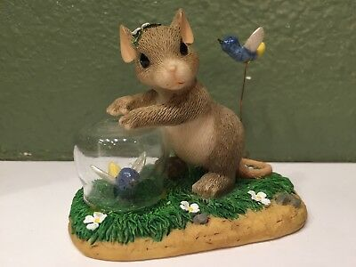 Fitz & Floyd Charming Tails Mice  Catching Fireflies 83/02