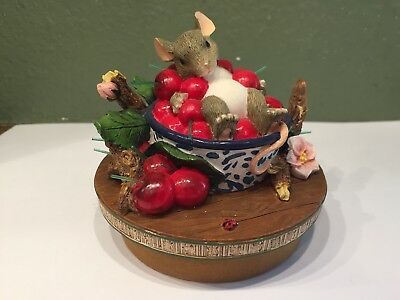 Charming Tails Candle Topper Life is a Bowl Full of Cherries