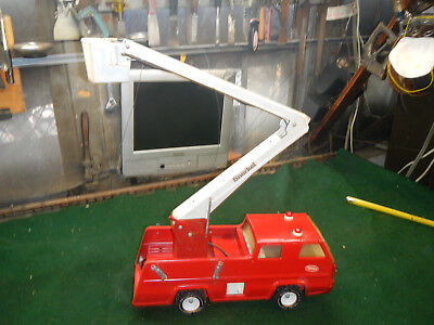 TONKA SNORKEL FIRE TRUCK PRESSED STEEL TOY 1960s NICE!