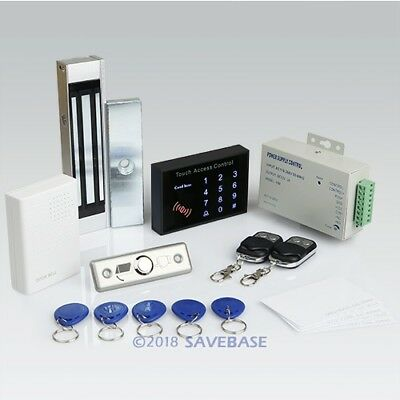 DIY RFID Access Control System Kit+180kg Magnetic Lock+2Remote Controls+Doorbell