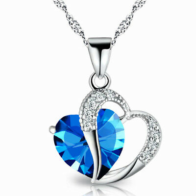 Stylish Cubic Silver Plated Rhiinestone Necklace Chain Jewlery For Women Gift