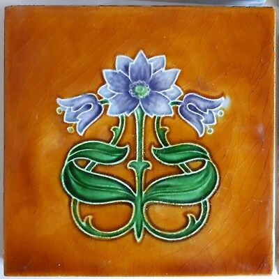 Art Nouveau Tiles By Rhodes Made in England Antique