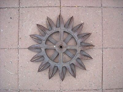 Vintage Antique Rotary Hoe Wheel Pair Yard Art Farm Punk