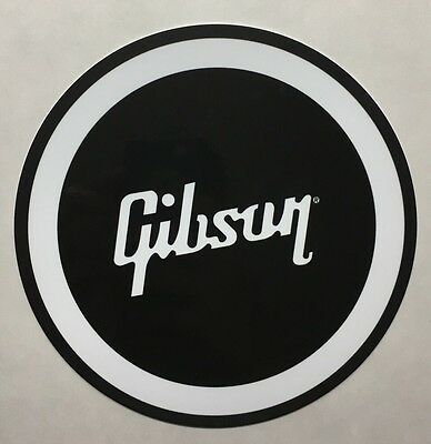 """Gibson Guitar 12"""" Black and White Metal Sign"""