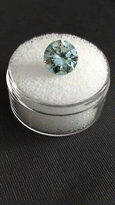 BLUE LOOSE MOISSANITE 0.40 CT to 5.45 CT ROUND BRILLIANT CUT FOR RING/PENDANT