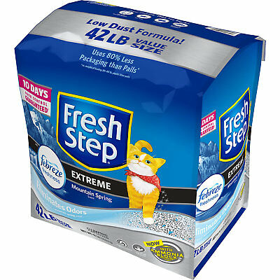 Fresh Step Extreme Scented Power of Febreze Mountain Spring Clumping Cat Litter