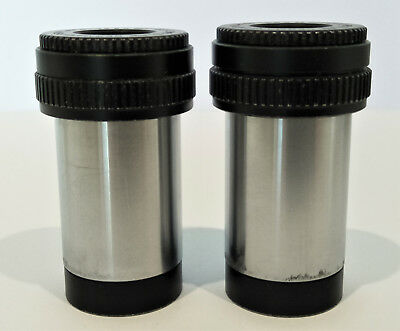 Leitz Periplan Microscope Eyepieces, 12.5x Magnification, Focussing + Graticule!