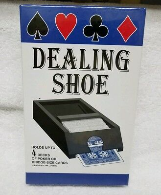 Jax Playing Card DEALING SHOE Holds 4 Decks Spring Loaded! Cards Casino Poker