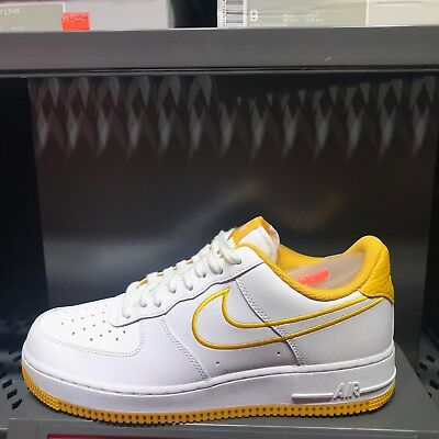 size 40 28aab 11f5a Nike Air Force 1 07 Leather Sneakers Skateboard Yellow AJ7280-101 Sz 5-13