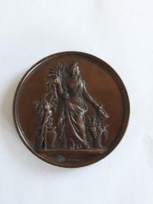 1854 France French Medal Plaque - Horticulture Society of Eure and Loir