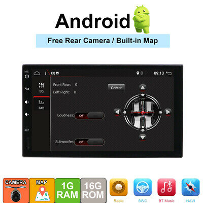 2DIN Android 7.1 Car Radio GPS Navigation Head Units Multimedia MP5 Player BT