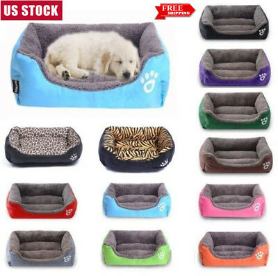 Pet Dog Cat Plush Vintage Bed Cushion Warmer Mat Soft Pad Nest For Crate House
