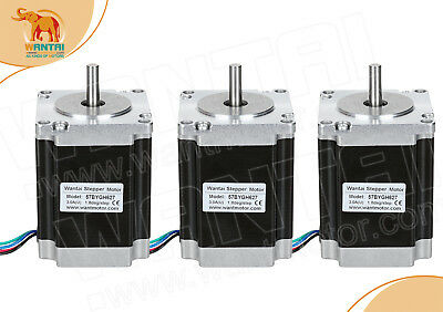 【USA Ship】3PCS Wantai Nema23 stepper motor 287oz-in,3.0A, 57BYGH627 CNC Engraver