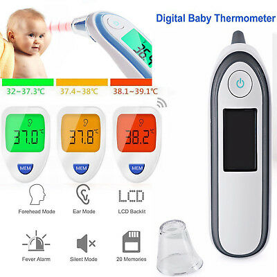 IR Infrared Digital Baby Termometer Non-Contact Forehead Ear Body Adult Toddlers