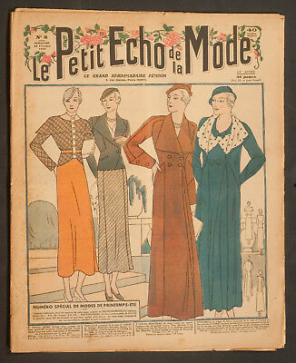'echo De La Mode' French Vintage Newspaper Spring Fashion Issue 19 February 1933