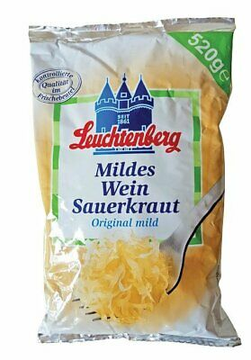 Leuchtenberg Original Mild Wine Sauerkraut 520g, No Preservatives