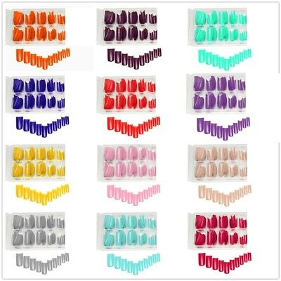 100pcs Faux Ongles  Extension Acrylique Capsules UV Gel French manucure