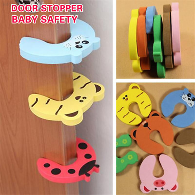 1DDC Baby Kids Safety Protect Anti Hit Guard Lock Clip Animal Safe Card Door Sto