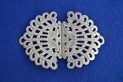 Antique Solid Silver Nurses Belt Buckle - Birmingham 1902 - NHS call the midwife