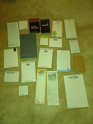 20 Vintage note pad lot assorted hotels, companies, advertising