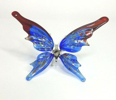 Figurine Animal Hand Blown Glass Insect Butterfly GTBF005