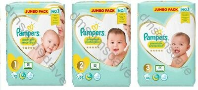 Pampers Premium Protection Baby Dry Nappy Nappies Size1 2 3 4 5 6Jumbo Giga Pack